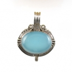 GP19 Silver blue chacedony pendant