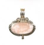 GP19 Silver rose quartz pendant