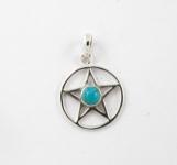 GP2 Silver gemstone pentagram pendant