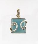 GP20 Silver blue chalcedony pendant