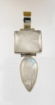GP22 Silver rainbow moonstone pendant