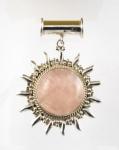 GP24 Silver rose quartz pendant