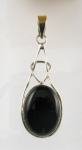 GP26 Silver black onyx pendant