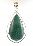 GP48 silver green adventurine pendant