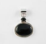 GP7 Silver black onyx pendant