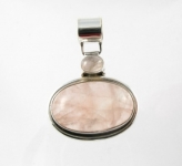 GP7 Silver rose quartz pendant