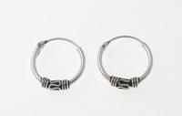 H11 Silver balinese hoops