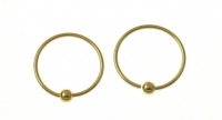 H34G Gold plated hoop.