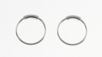 H36 silver hoop (nose ring)