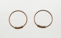 H36R 5 pairs of Rose Gold Plated Silver Hoops