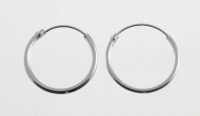 H36a Silver hoops