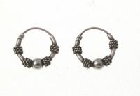 H40 Silver balinese hoops