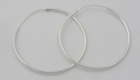 H45 large silver hoops