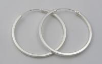 H55 Silver hoops