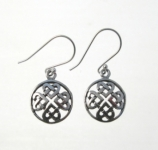 E159 Celtic Knot Circle Earrings