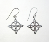 E136 Celtic Knot Diamond Earrings