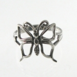 R16 Silver butterfly ring