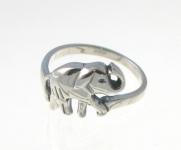 R6 Silver elephant ring