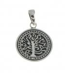 WP136 silver tree pendant
