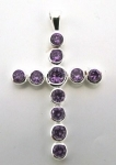 P16 Purple crystal cross