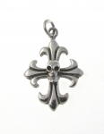 P160 Skull on cross pendant