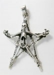 P162 Skeleton on a Pentagram