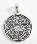 P199 Pentagram with celtic knotwork