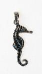 P212 Silver Seahorse Pendant