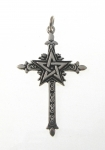 P222 Pentagram on cross pendant