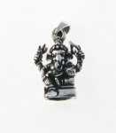 P262 Silver Ganesh God Pendant