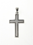 P323 Silver cross pendant