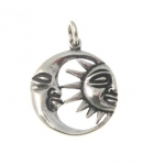 P339 Silver sun and moon pendant