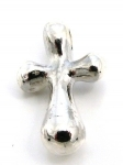 P6 Sterling silver flare end cross pendant