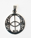 P62  Silver Chalice Well Pendant