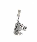 P66 Silver Unicorn Head Pendant