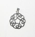 P69 Silver Celtic Circular Pendant