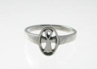 R192 Silver ankh ring