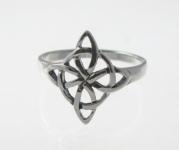 R229 Silver celtic ring