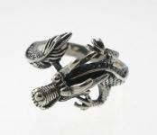 R273 Silver dragon ring