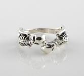R264 silver skeleton ring