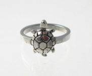 R23 Silver tortoise ring