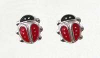 S10 Silver ladybird studs