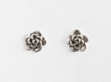 S13 Silver rose studs