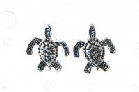 S143 Silver Turtle Studs