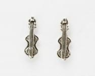 S21 Silver Violin studs