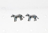 S25 Silver Dog Studs