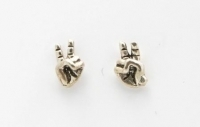 S27 hand peace sign studs
