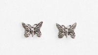 S40 Silver butterfly studs