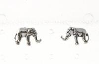 S56 Silver Elephant Studs