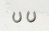S61 Silver Horse Shoe Studs